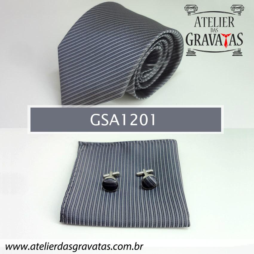 Gravata Cinza Escuro 10cm GSA1201