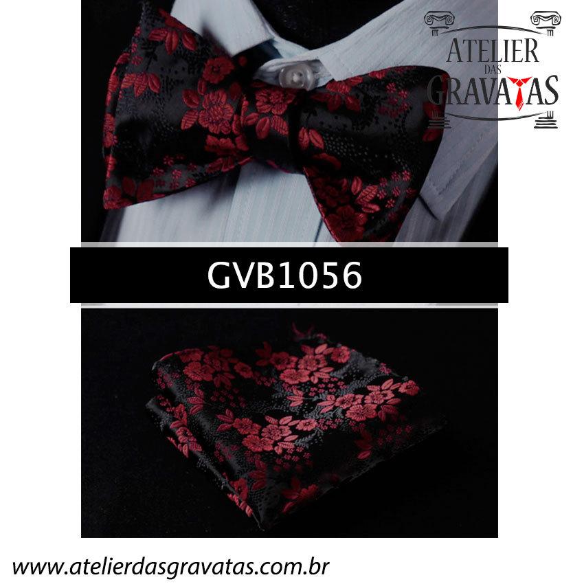 Gravata Borboleta de Seda Especial GVB1056 - acompanha lenço