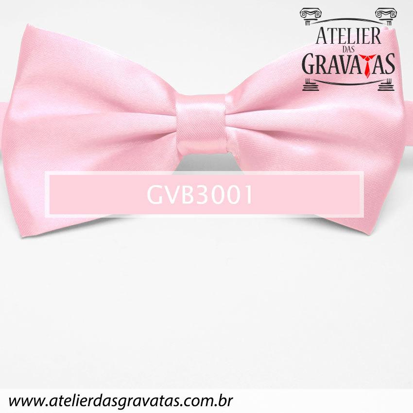 Gravata Borboleta Rosa Clara - nó pronto GVB3001 - com ajuste de largura