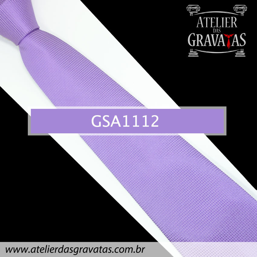 Gravata de Seda Lilás 10cm GSA1112