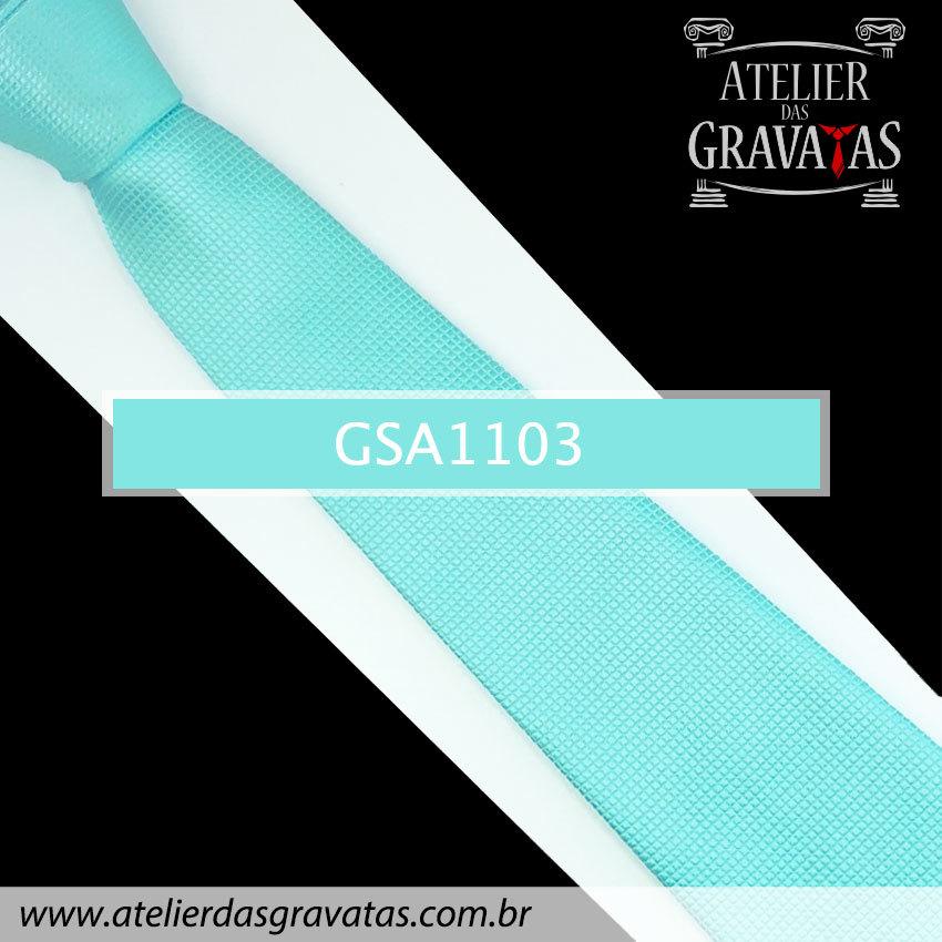 Gravata Azul Tiffany de Seda 10cm GSA1103