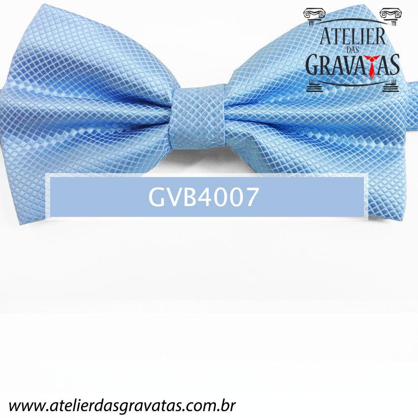 Gravata Borboleta Azul Clara - nó pronto GVB4007 - com ajuste de largura
