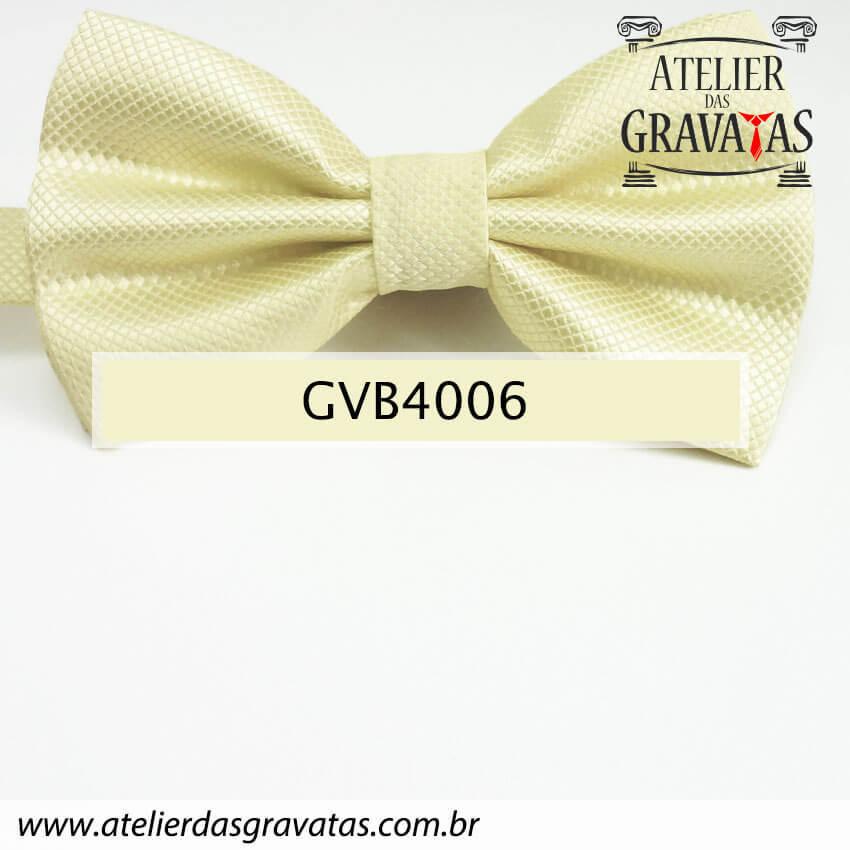 Gravata Borboleta Amarela - nó pronto GVB4006 - com ajuste de largura