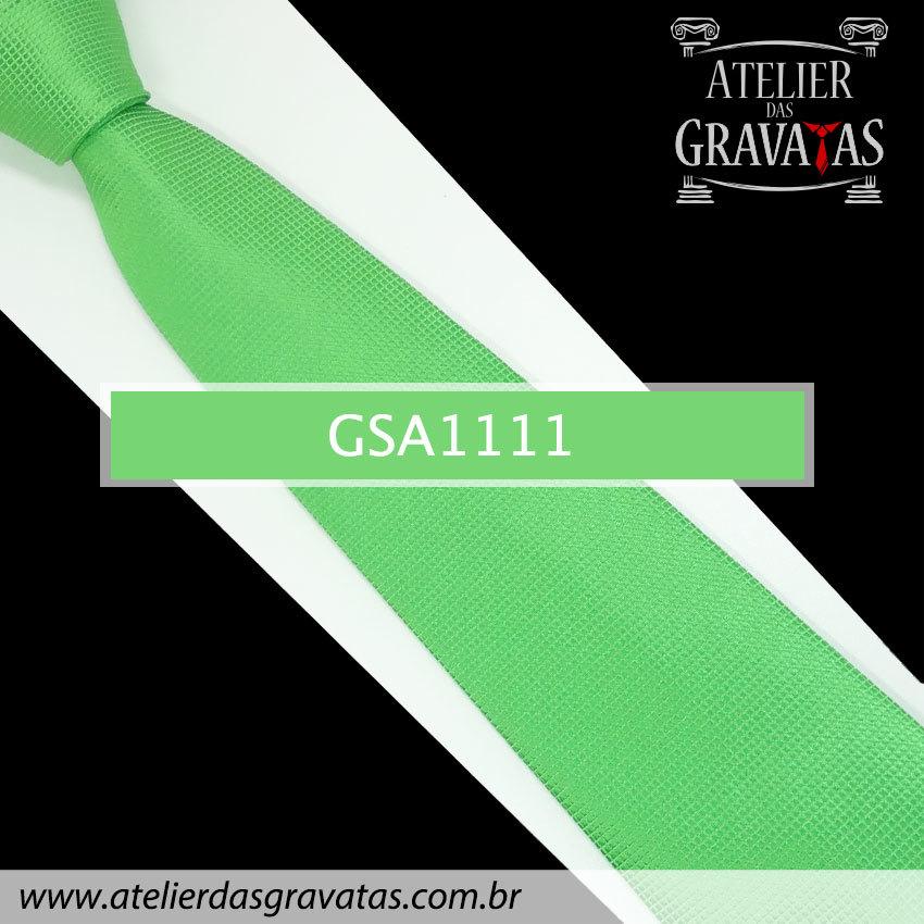 Gravata de Seda Verde 10cm GSA1111