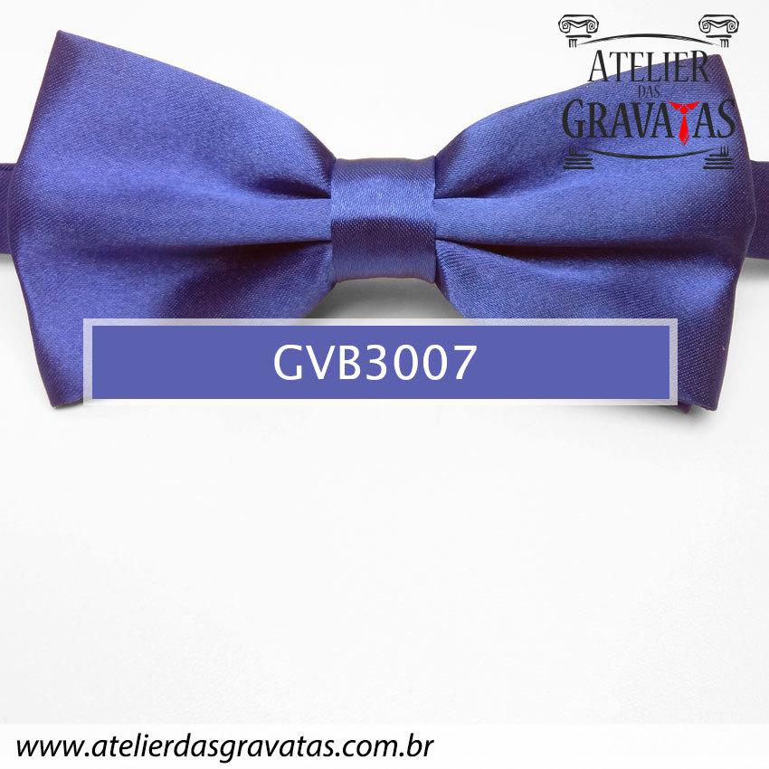 Gravata Borboleta Azul Royal - nó pronto GVB3007 - com ajuste de largura