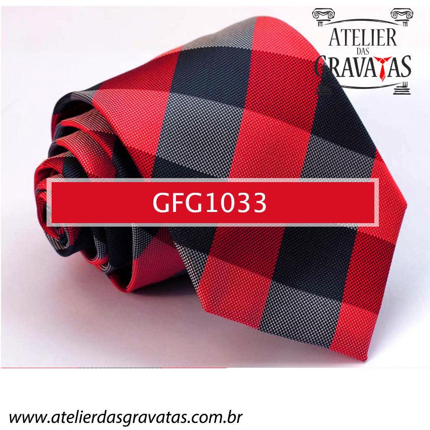 Gravata de Seda Especial Xadrez 9cm GFG1033