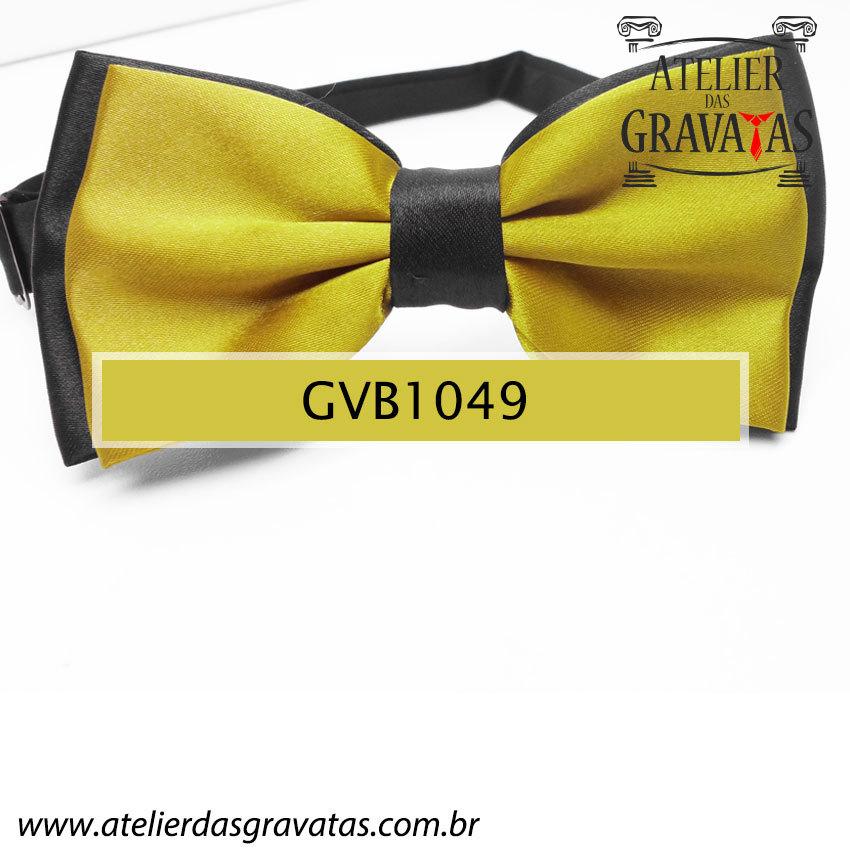 Gravata Borboleta Dourada - nó pronto GVB1049 - com ajuste de largura