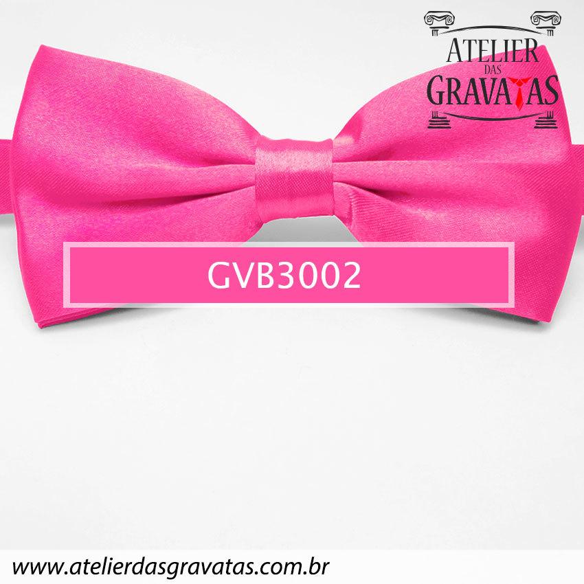 Gravata Borboleta Rosa Pink - nó pronto GVB3002 - com ajuste de largura