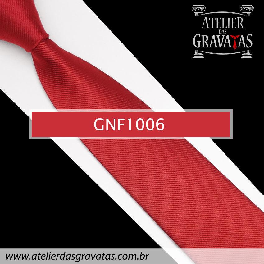 Gravata Slim Vermelha de Seda 8cm GNF1006