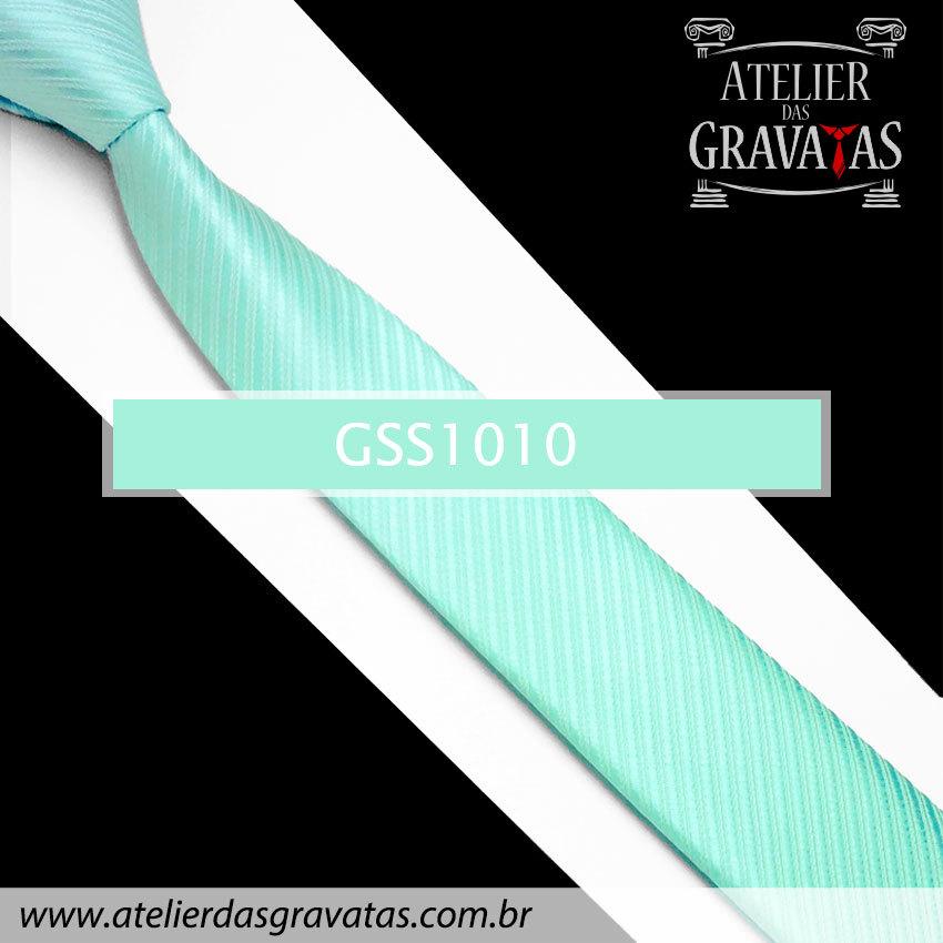 Gravata Slim Fit Azul Tiffany 5cm GSS1010