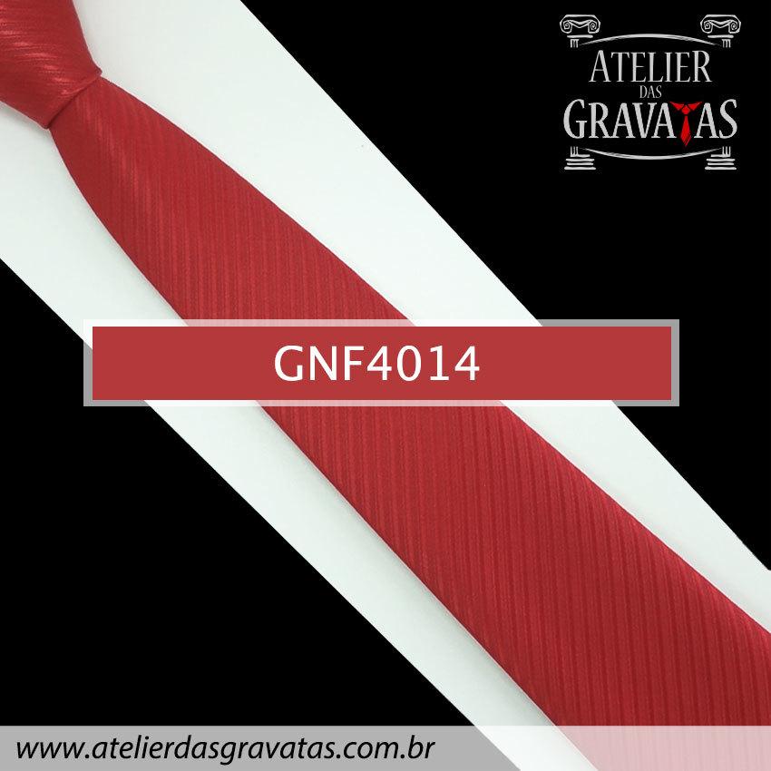Gravata Slim Vermelha 7,5cm GNF4014