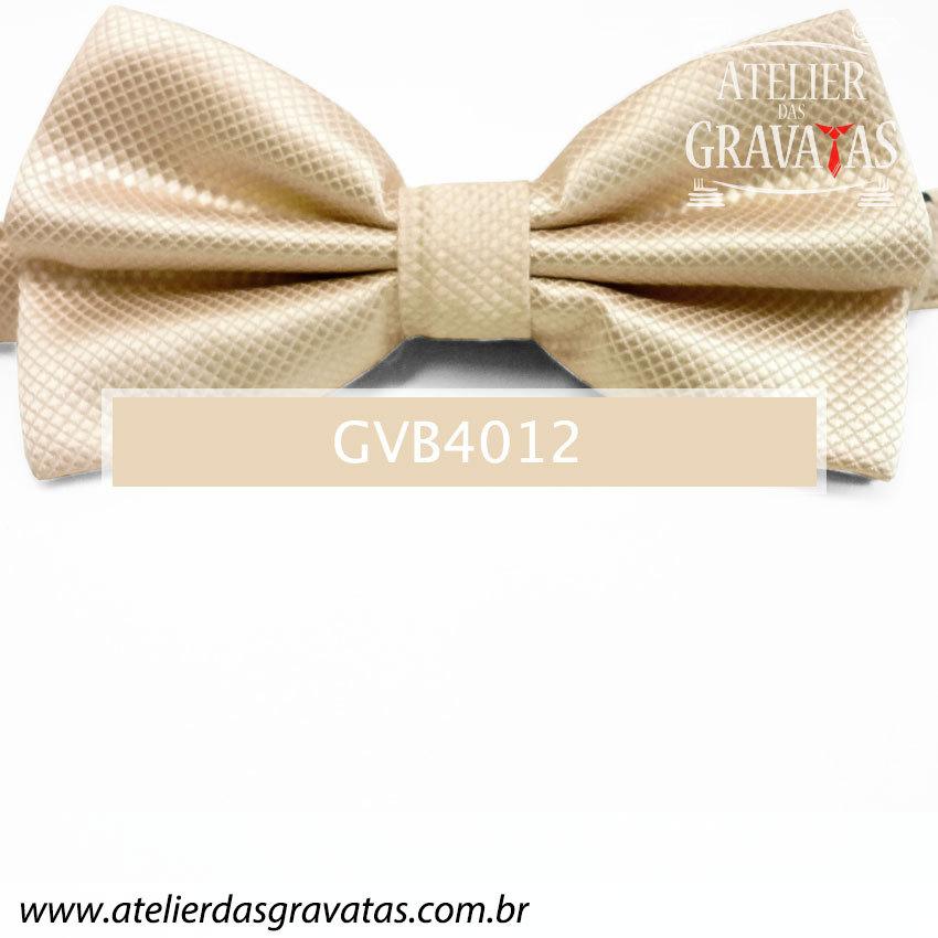 Gravata Borboleta Champagne - nó pronto GVB4012 - com ajuste de largura