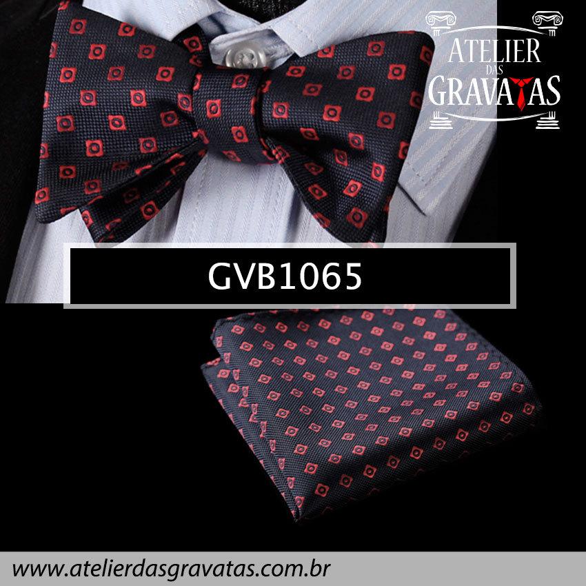 Gravata Borboleta de Seda Especial GVB1065 - acompanha lenço