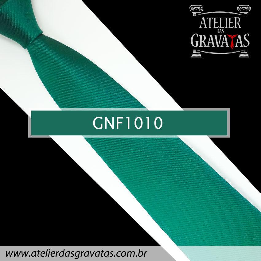 Gravata Slim Verde Escura de Seda 8cm GNF1010