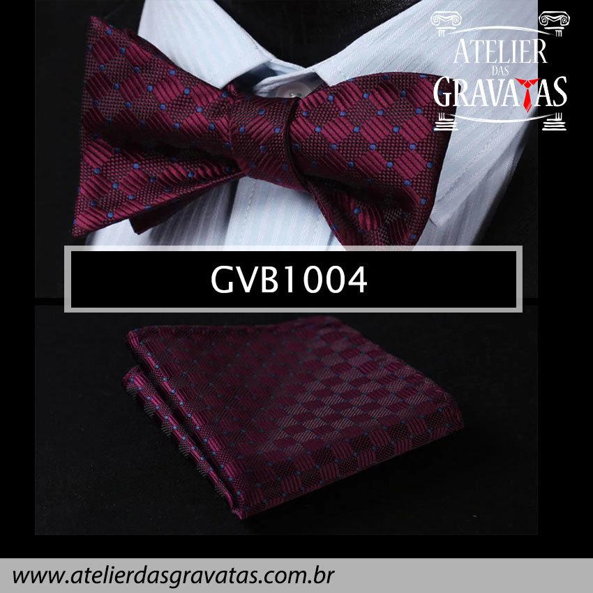 Gravata Borboleta de Seda Especial GVB1004 - acompanha lenço