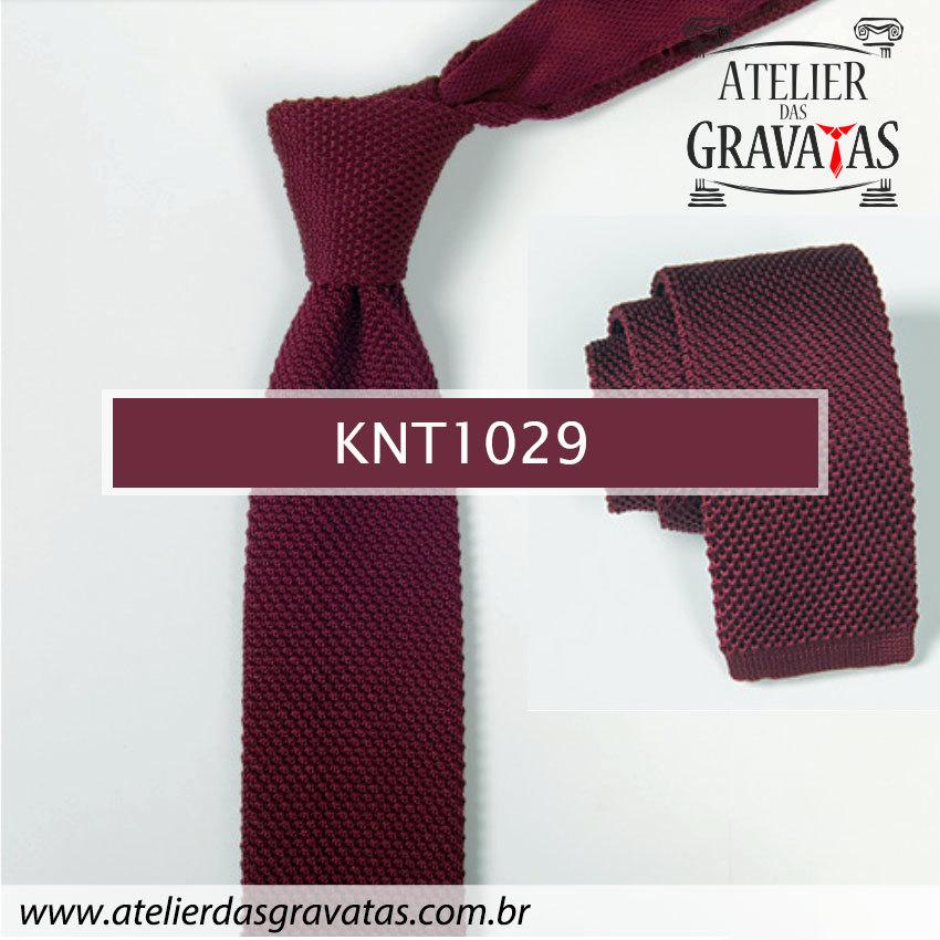 Gravata Slim Fit de Tricot 5,5cm KNT1025