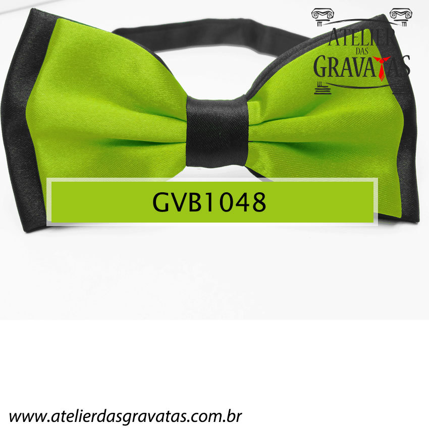 Gravata Borboleta Verde - nó pronto GVB1048 - com ajuste de largura