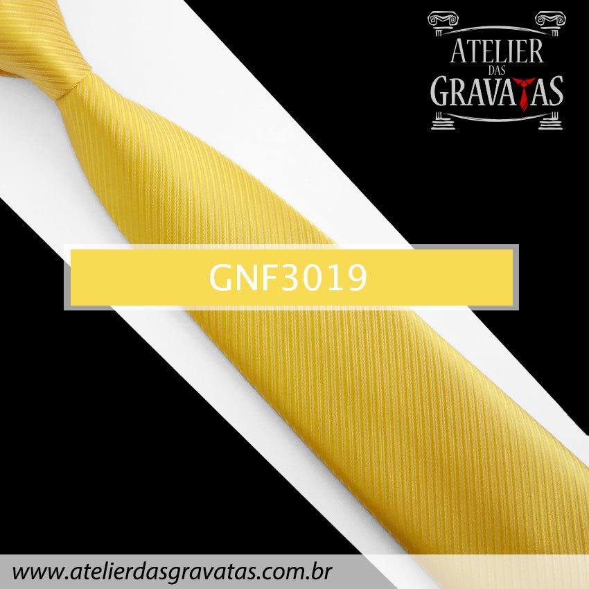 Gravata Slim Amarela 8cm GNF3019