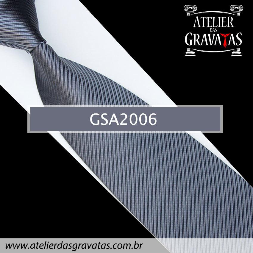 Gravata Cinza Escuro 10cm GSA2006