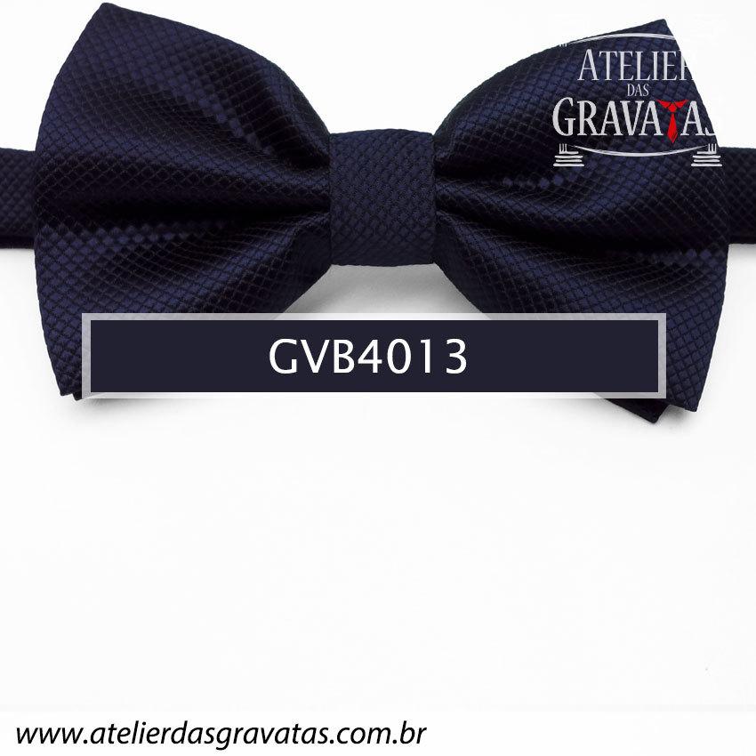 Gravata Borboleta Azul Escura - nó pronto GVB4013 - com ajuste de largura
