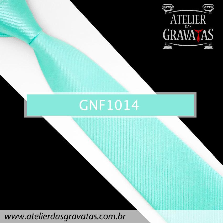 Gravata Slim Azul Tiffany de Seda 8cm GNF1014