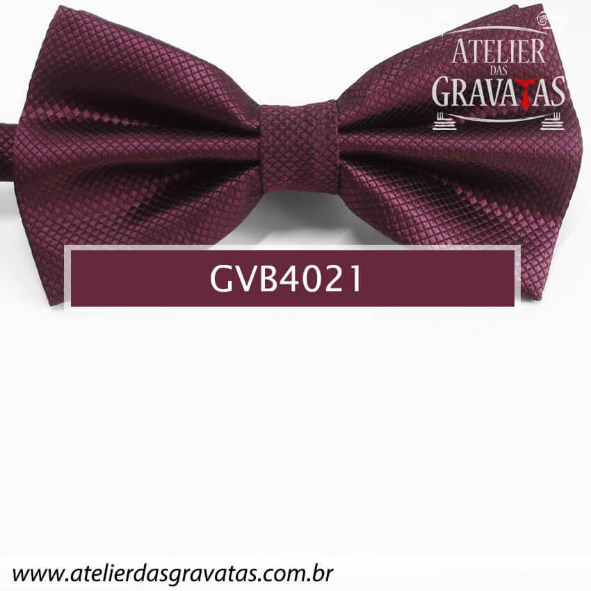 Gravata Borboleta Vinho - nó pronto GVB4021 - com ajuste de largura