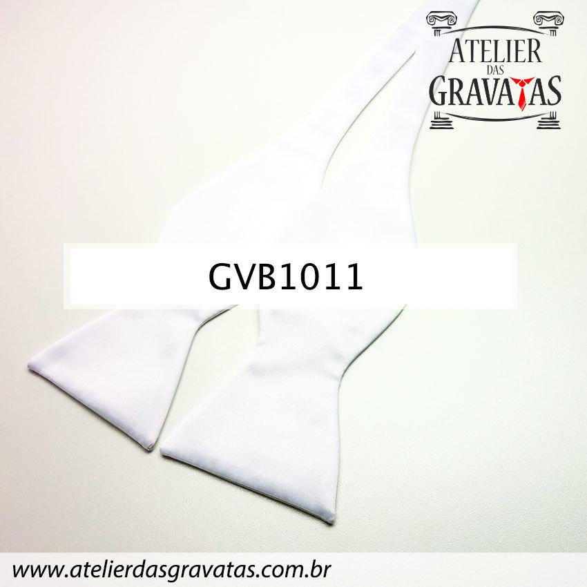 Gravata Borboleta Branca GVB1011 - com ajuste de largura