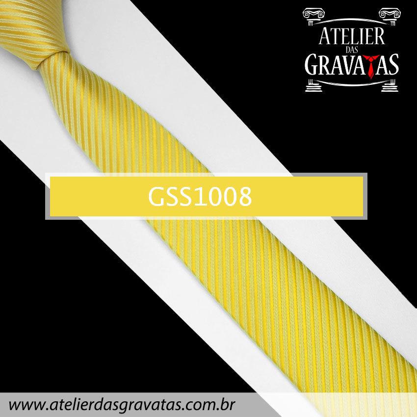 Gravata Slim Fit Amarela 5cm GSS1008