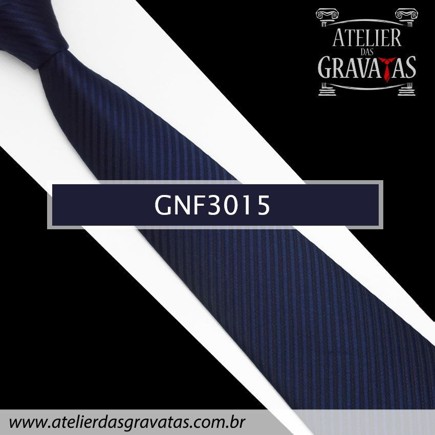 Gravata Slim Azul Escura 8cm GNF3015