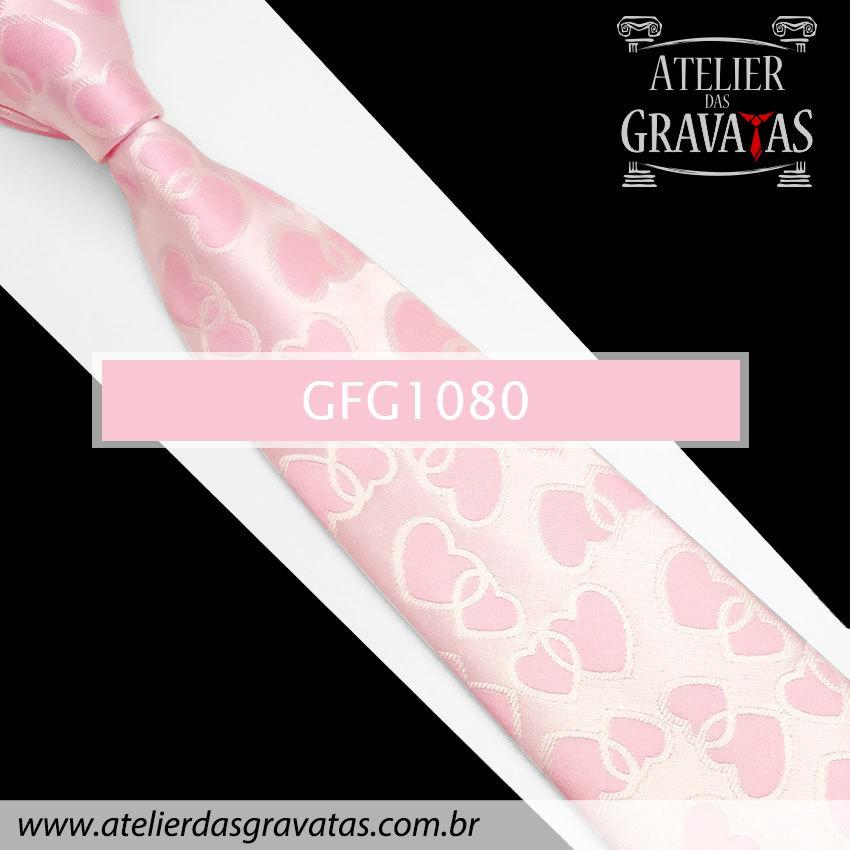 Gravata de Seda Especial 8,5cm GFG1080 - acompanha lenço