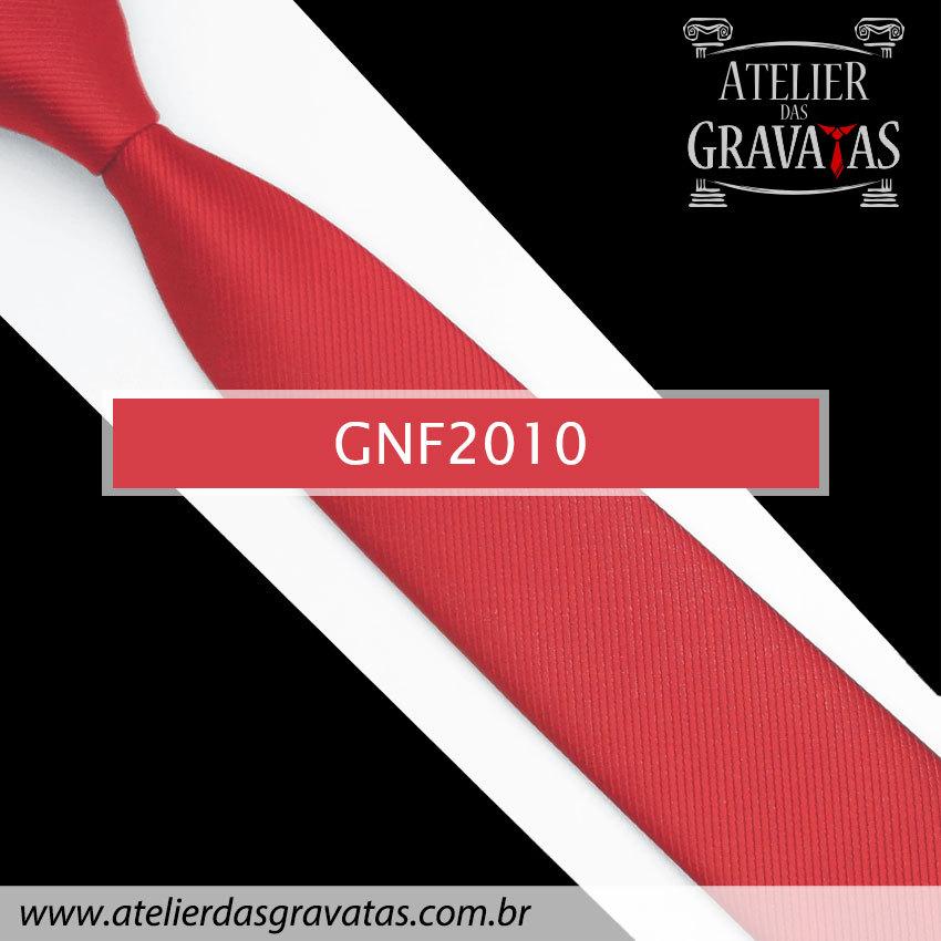 Gravata Slim Fit de Seda 6cm Vermelha GNF2010