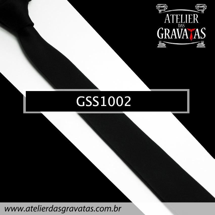 Gravata Slim Fit Preta de Seda 5cm GSS1002