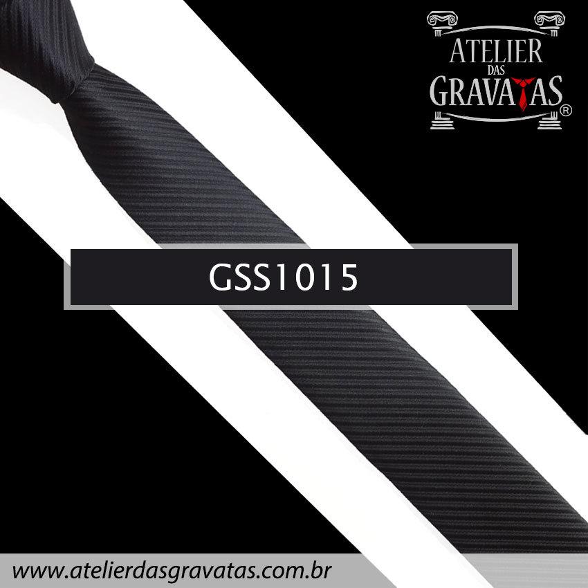 Gravata Slim Fit Preta 5cm GSS1015