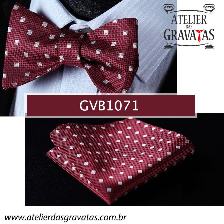 Gravata Borboleta de Seda Especial GVB1071 - acompanha lenço