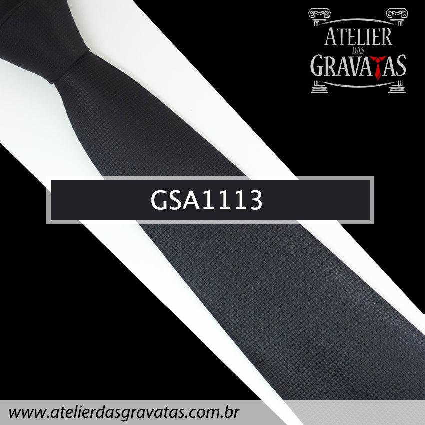 Gravata Preta de Seda 10cm GSA1113