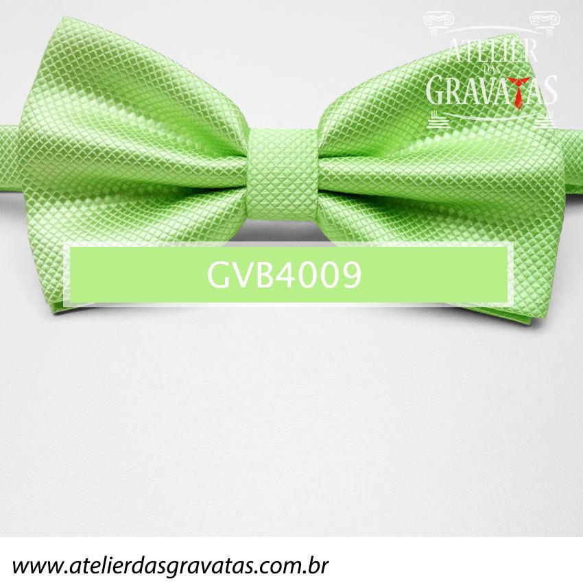 Gravata Borboleta Verde Clara - nó pronto GVB4009 - com ajuste de largura