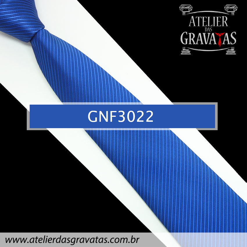 Gravata Slim Azul Royal 8cm GNF3022