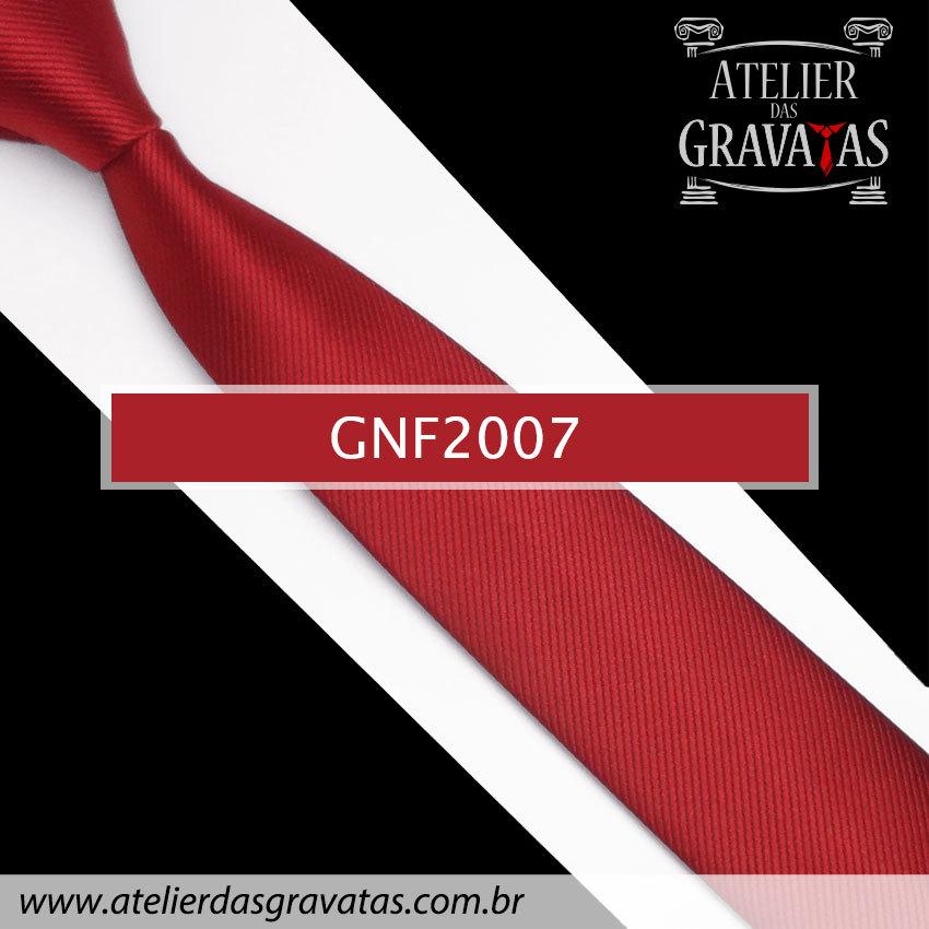 Gravata Slim Fit de Seda 6cm Vermelha Escura GNF2007