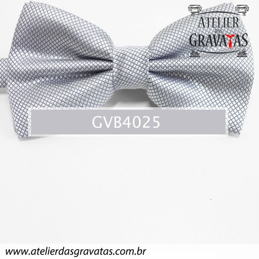 Gravata Borboleta Cinza - nó pronto GVB4025 - com ajuste de largura
