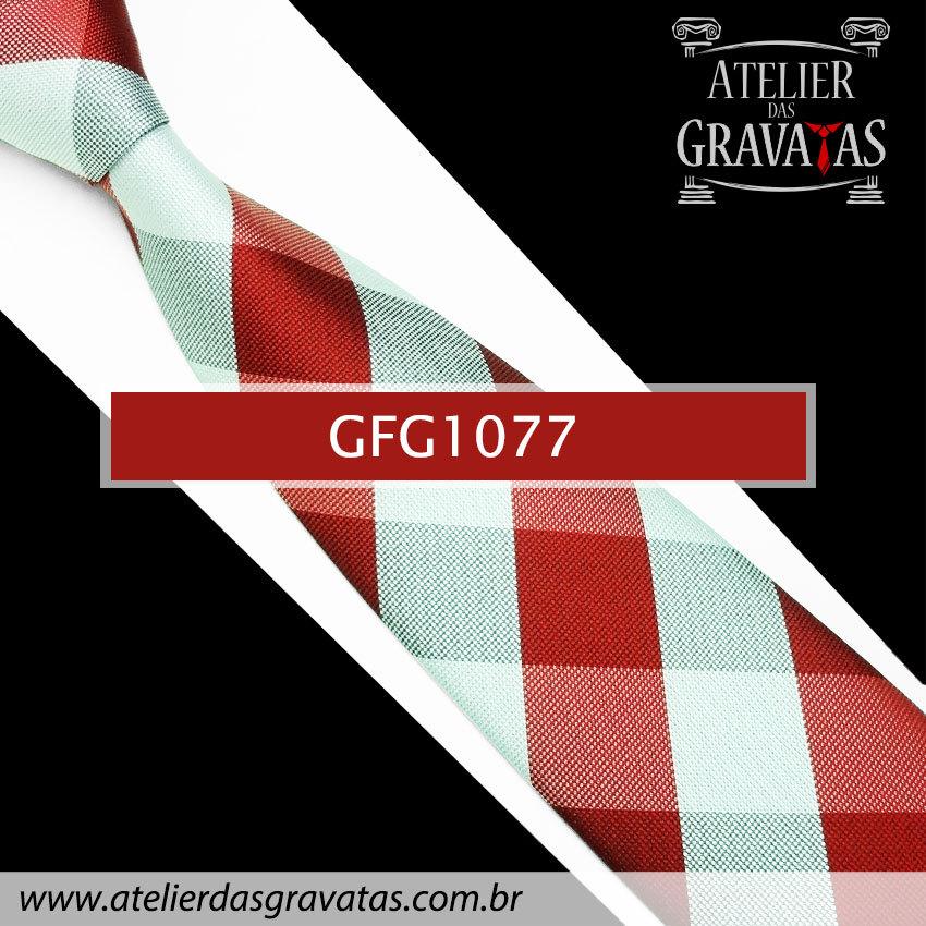 Gravata de Seda Especial Xadrez 9cm GFG1077