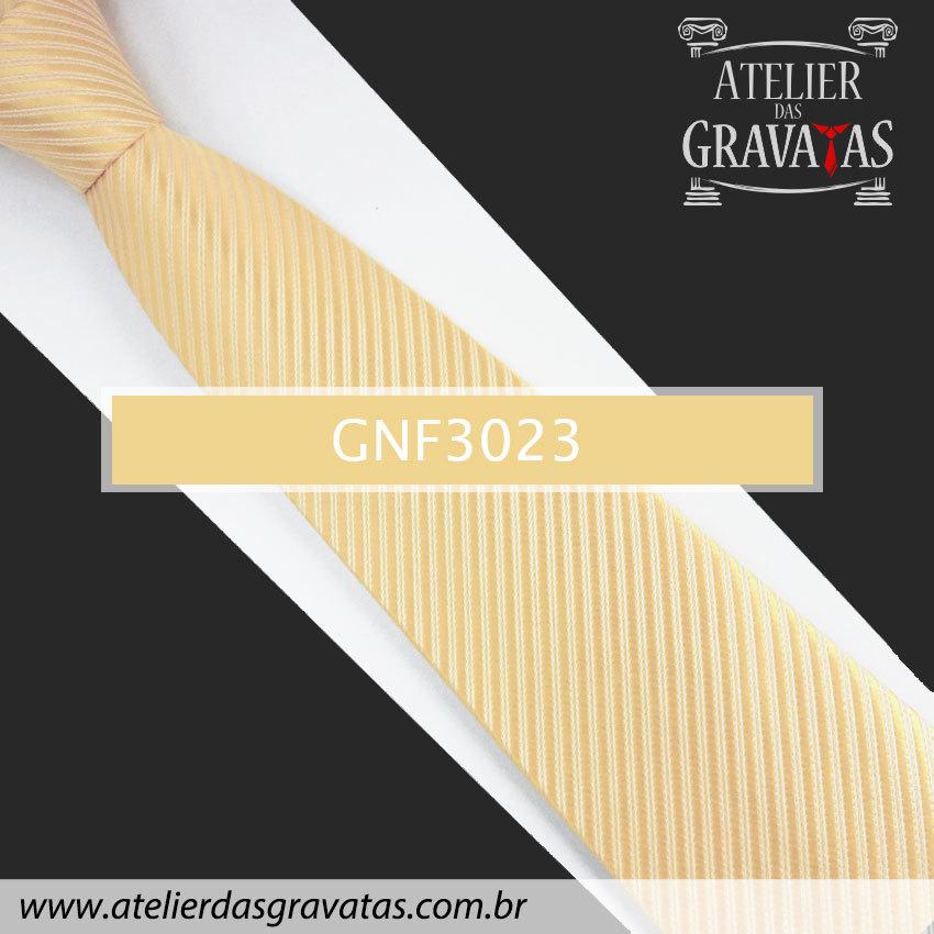 Gravata Slim Amarela 8cm GNF3023