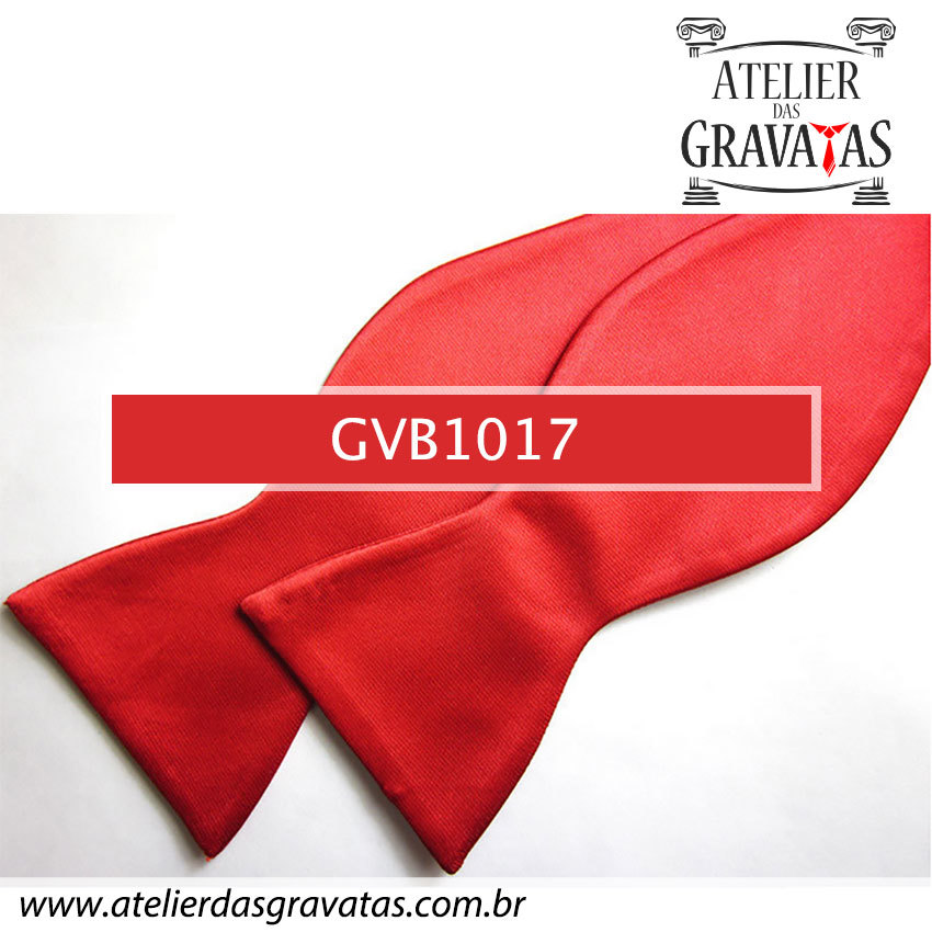 Gravata Borboleta Vermelha de Seda Especial GVB1017