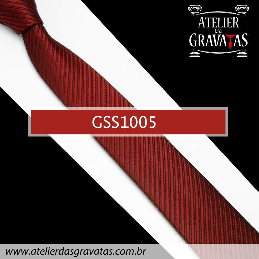 Gravata Slim Fit Vermelha Escura 5cm GSS1005