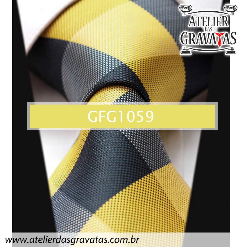 Gravata de Seda Especial Xadrez 9cm GFG1059