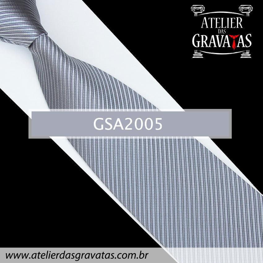 Gravata Prata 10cm GSA2005
