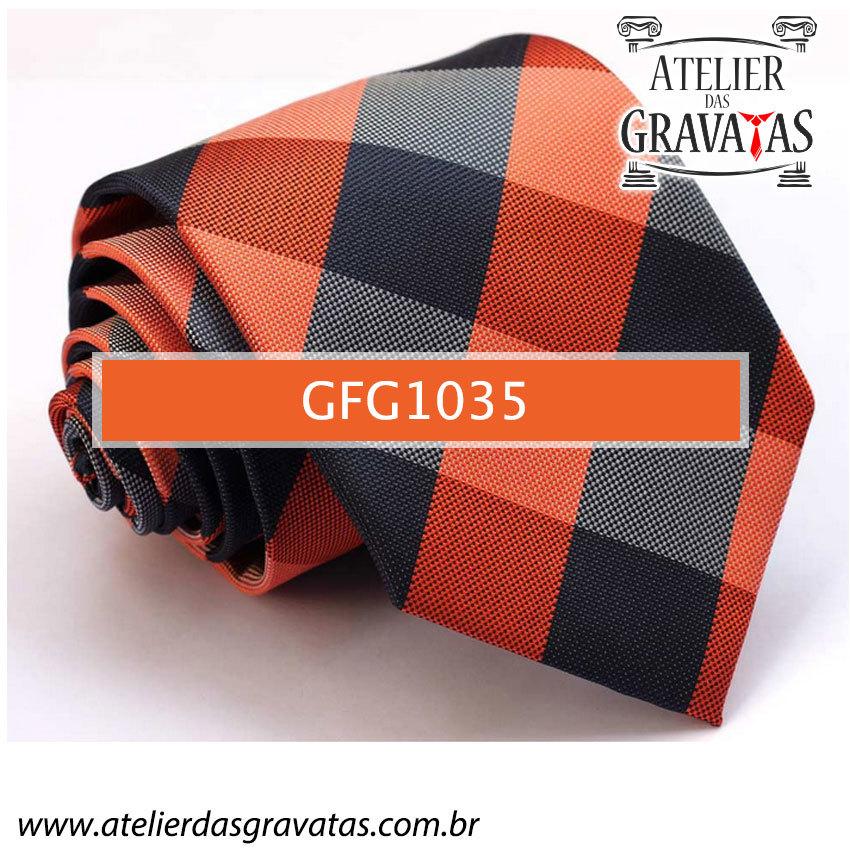 Gravata de Seda Especial Xadrez 9cm GFG1035