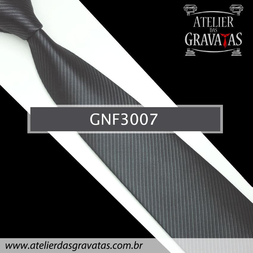Gravata Slim Cinza Chumbo 8cm GNF3007