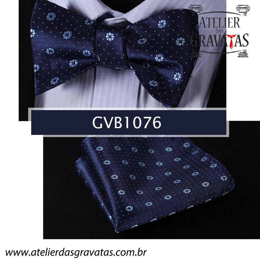 Gravata Borboleta de Seda Especial GVB1076 - acompanha lenço
