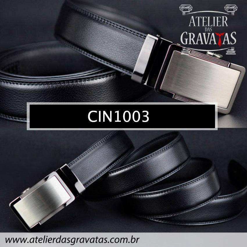 Cinto Masculino Luxo CIN1003 - padrão europeu - sem furos e ajuste na catraca
