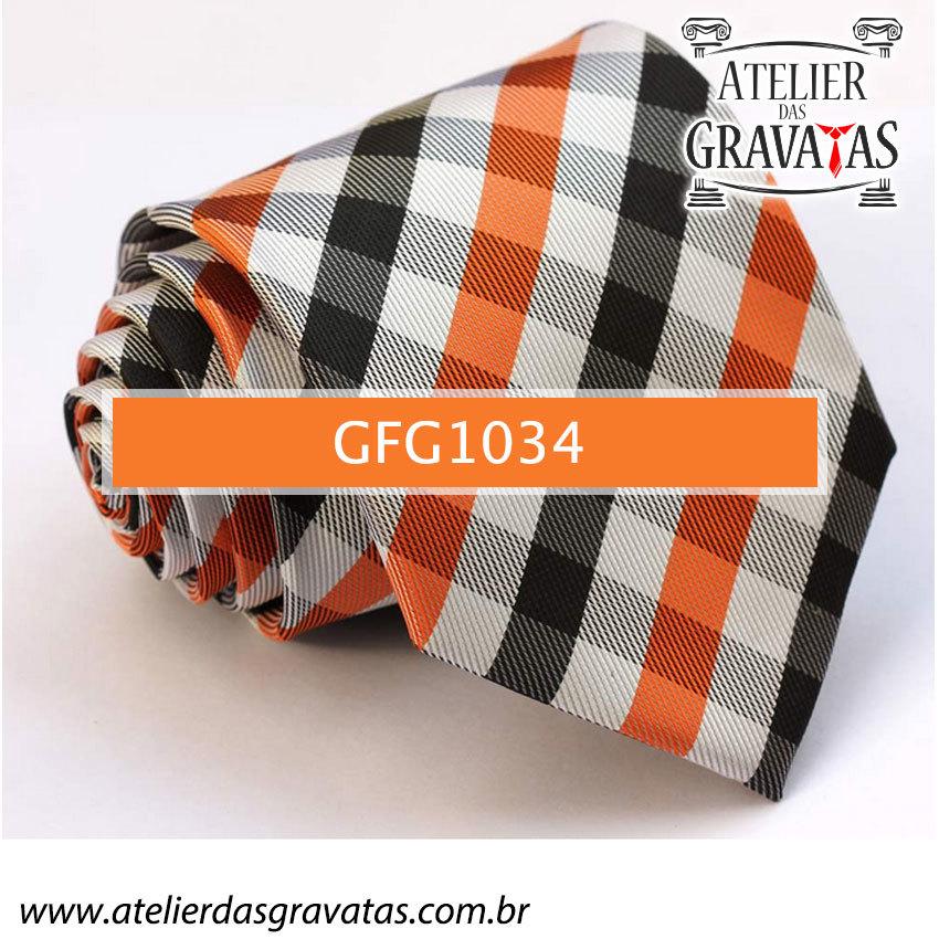 Gravata de Seda Especial Xadrez 9cm GFG1034